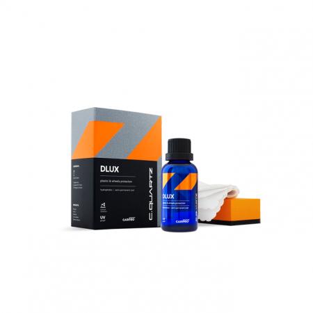 CarPro Cquartz DLUX zestaw z powłoką ceramiczną do zabezpieczania plastików i felg 30ml